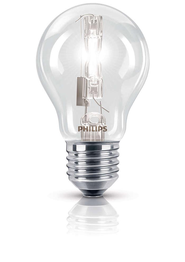 Gnistrande halogenlampa med bekant form