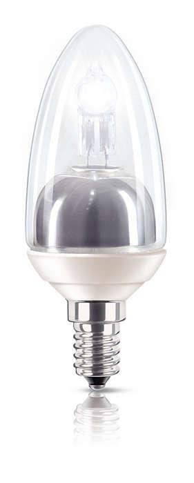 Brillantes Licht, halber Energieverbrauch