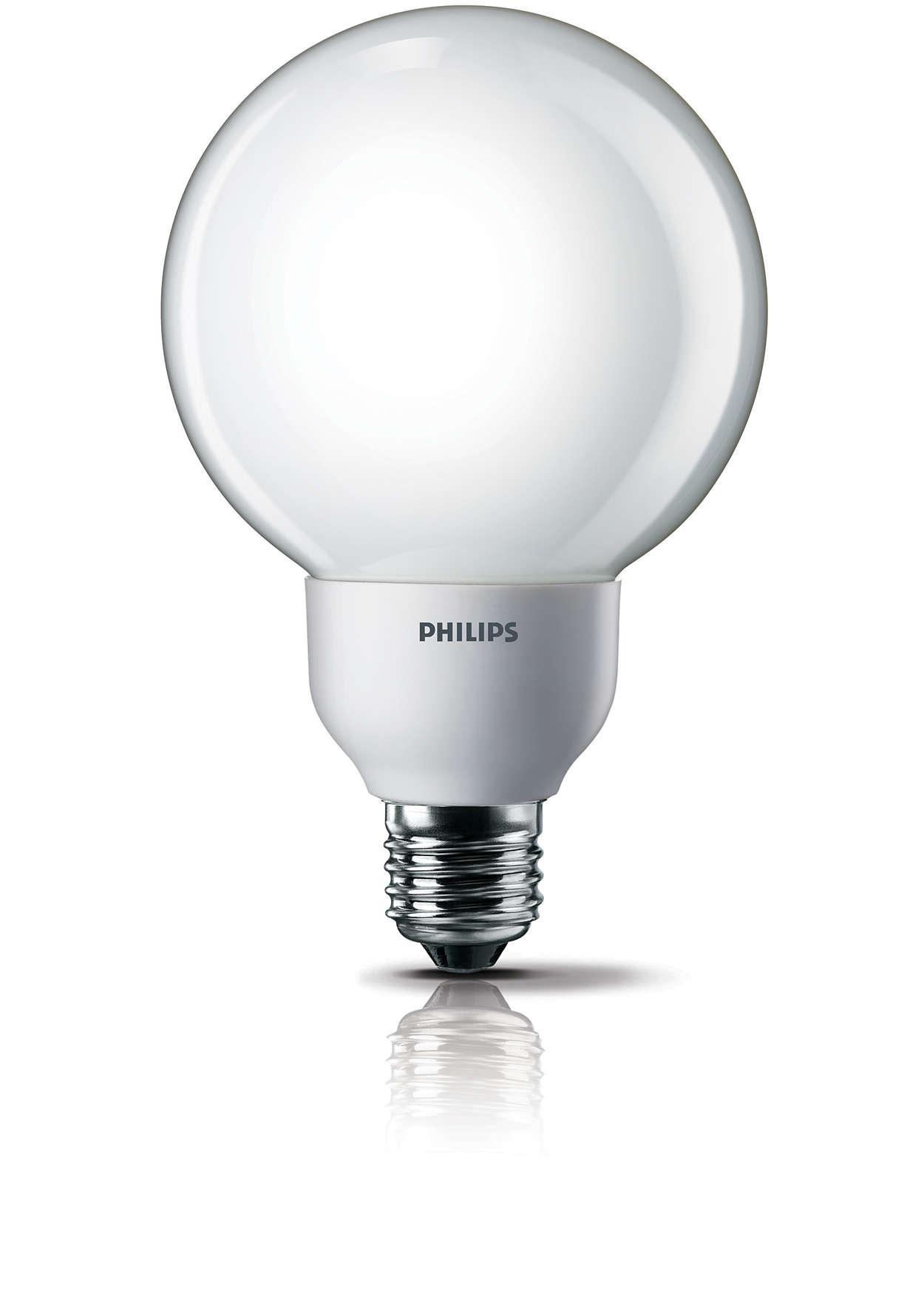 Luz suave e amena em um formato decorativo