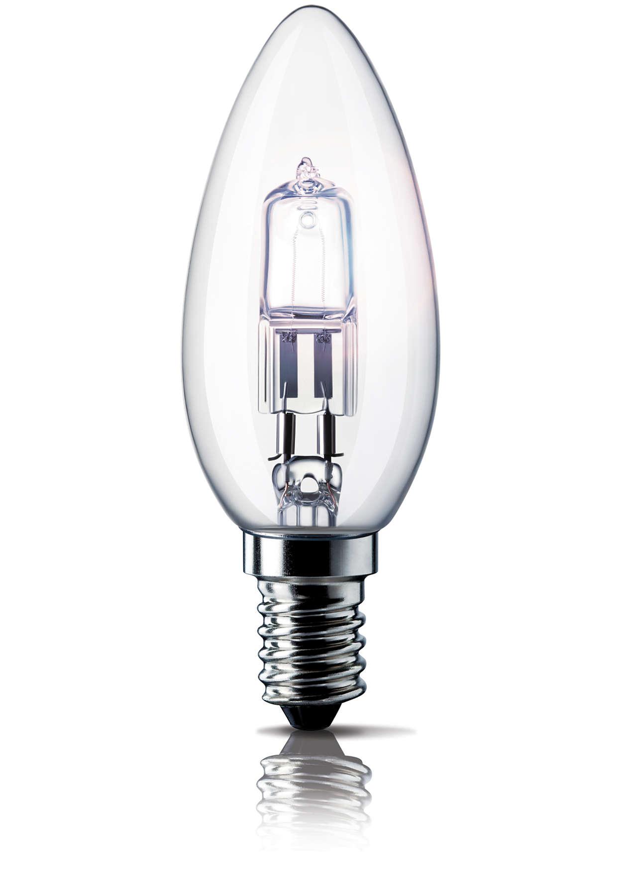 Blistavo halogeno svjetlo u prepoznatljivom obliku