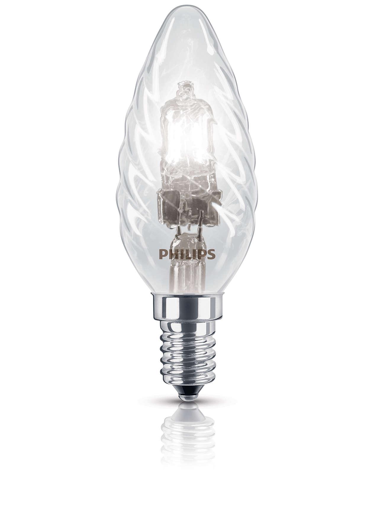 Ampoule halogène étincelante et de forme traditionnelle