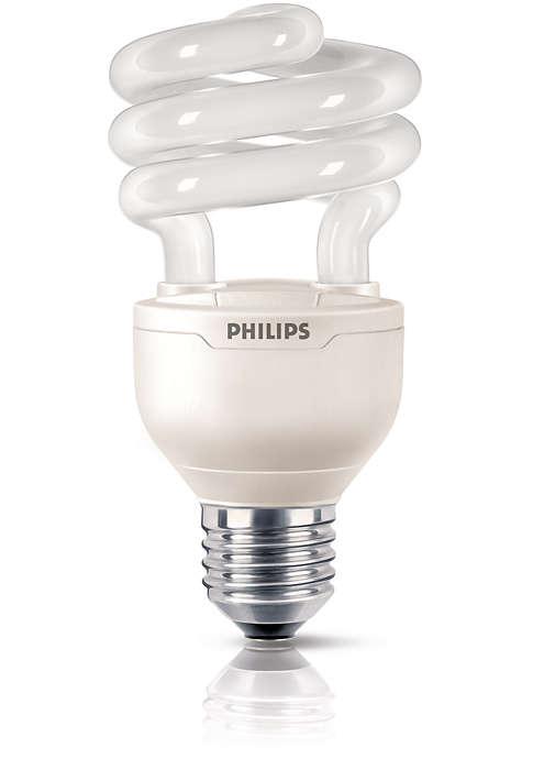 Design compacto com regulação de intensidade de luz