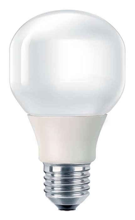 Lâmpada economizadora de energia suave e delicada