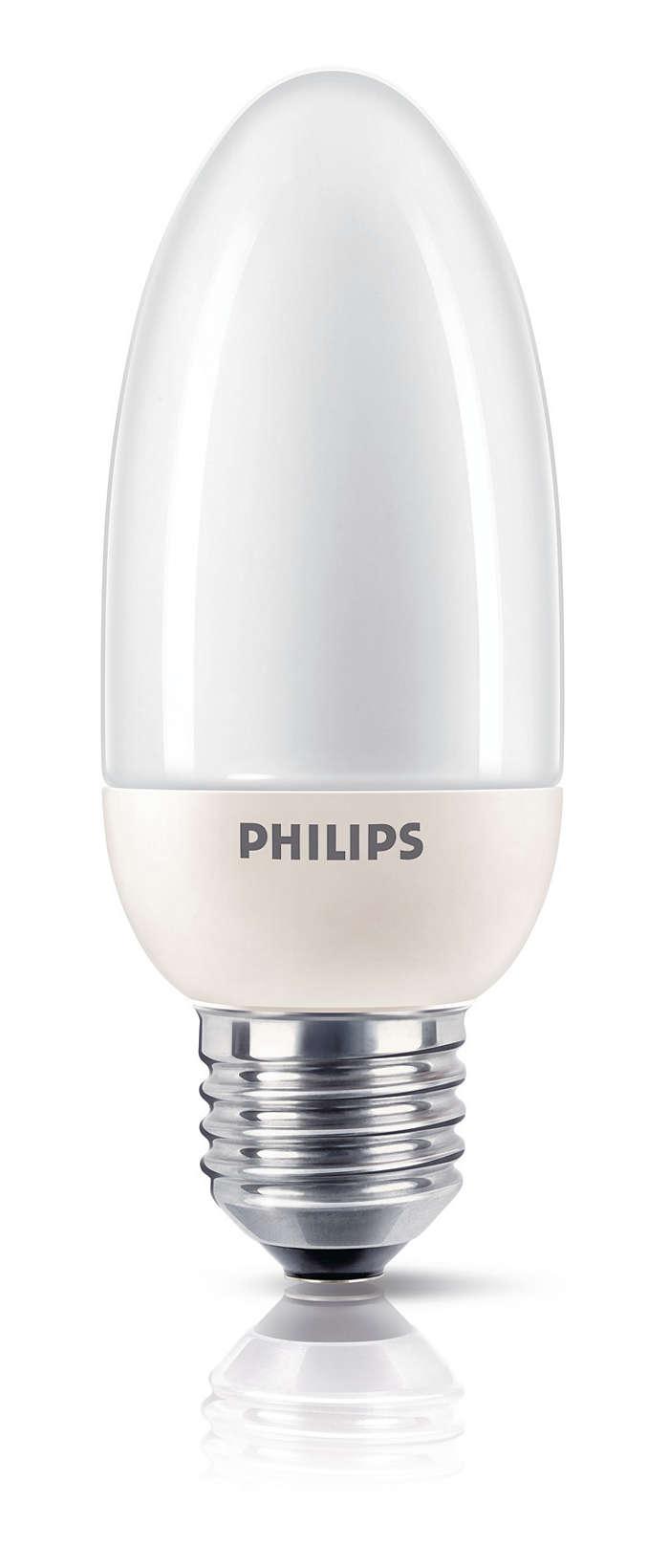 Yumuşak ve rahatsız etmeyen enerji tasarrufu lamba
