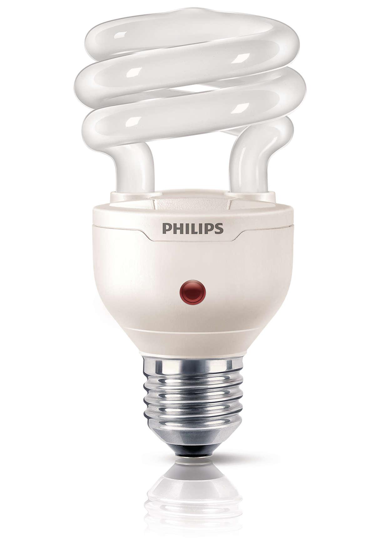 Ljusstark och kompakt, tänds automatiskt på natten