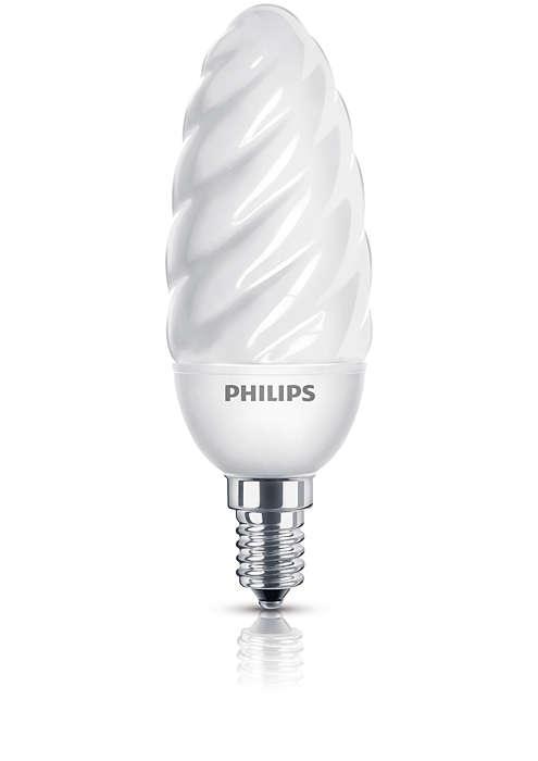 Комфортный и мягкий свет энергосберегающей лампы