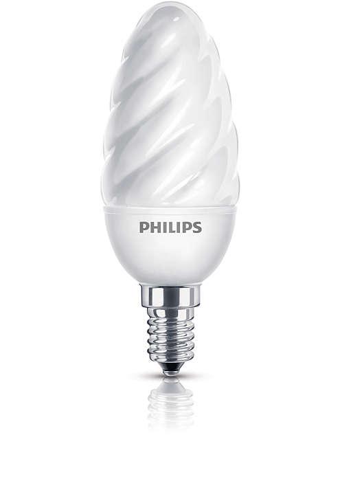Ήπιο και απαλό φως σε ένα λαμπτήρα που εξοικονομεί ενέργεια