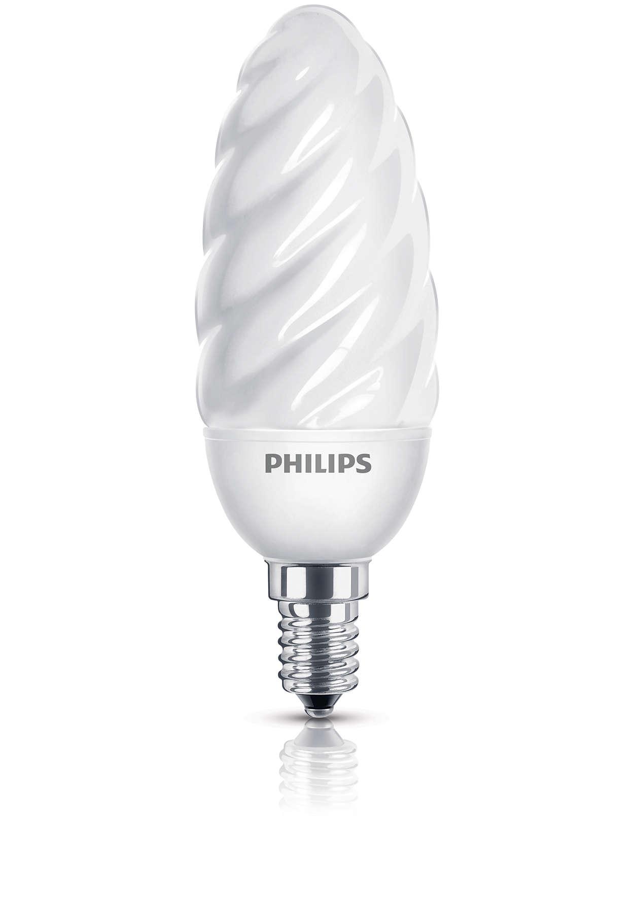 Ampoule à économie d'énergie produisant une lumière douce