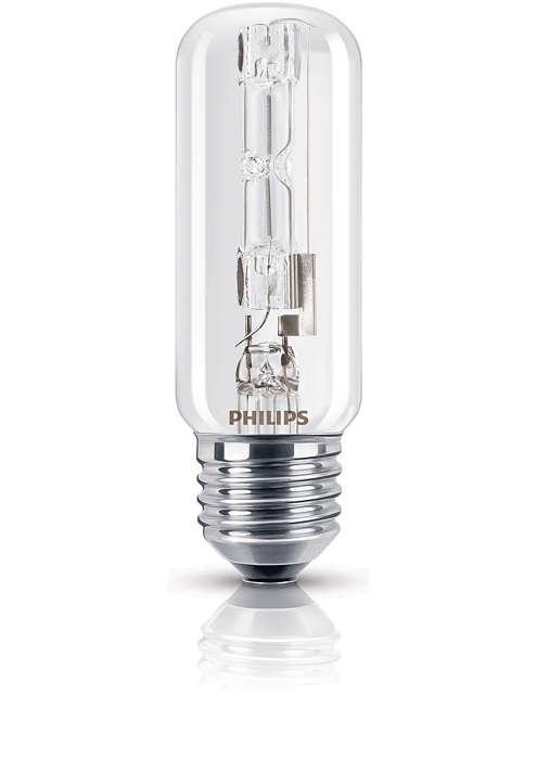 Сияющий свет галогеновой лампы, выполненной в классической форме