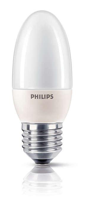Blødt og skånsomt energibesparende lys