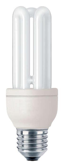 Kompakte Energiesparlampe für besonders lange Brenndauern