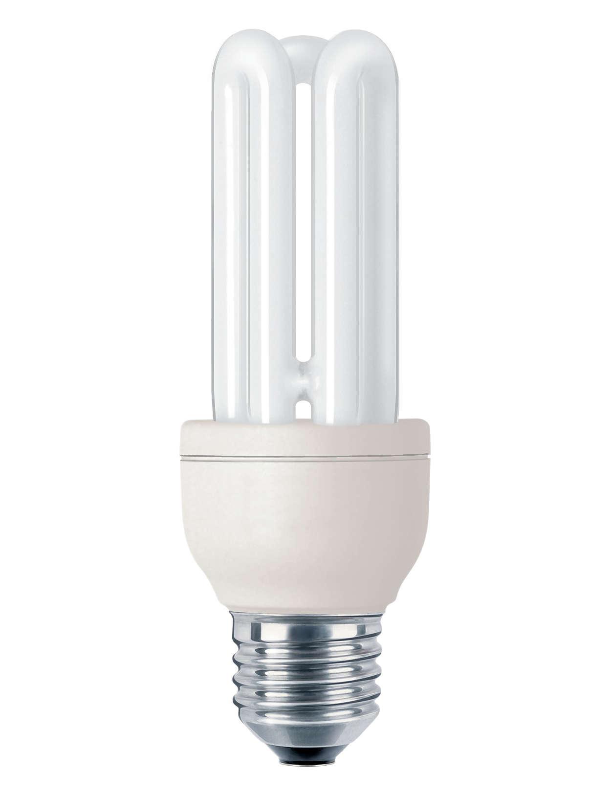 Lampadina compatta a risparmio energetico per professionisti
