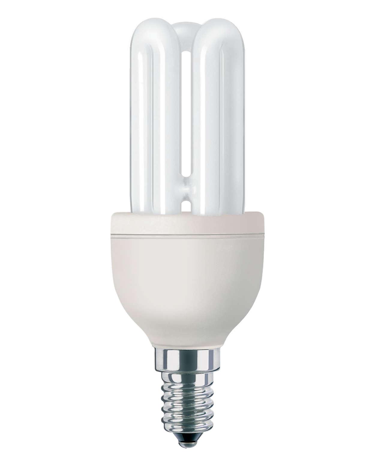 Compacte spaarlamp die door professionals wordt gebruikt