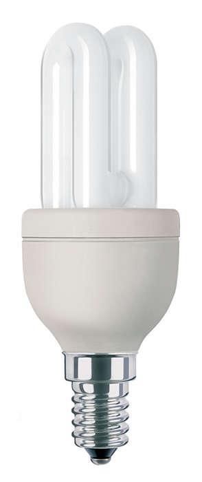 Lâmpada economizadora compacta utilizada por profissionais