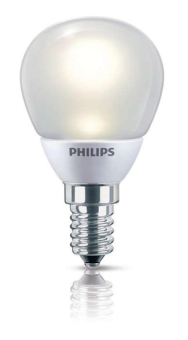Máxima qualidade de luz, maior poupança de energia