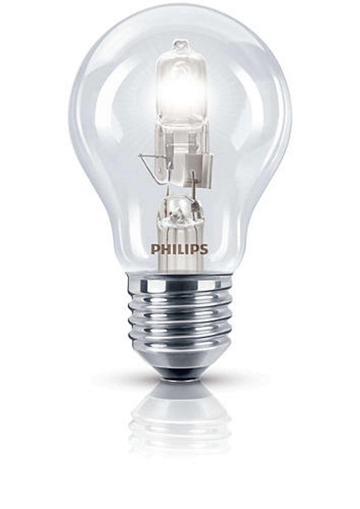Luz halógena reluciente en un diseño familiar