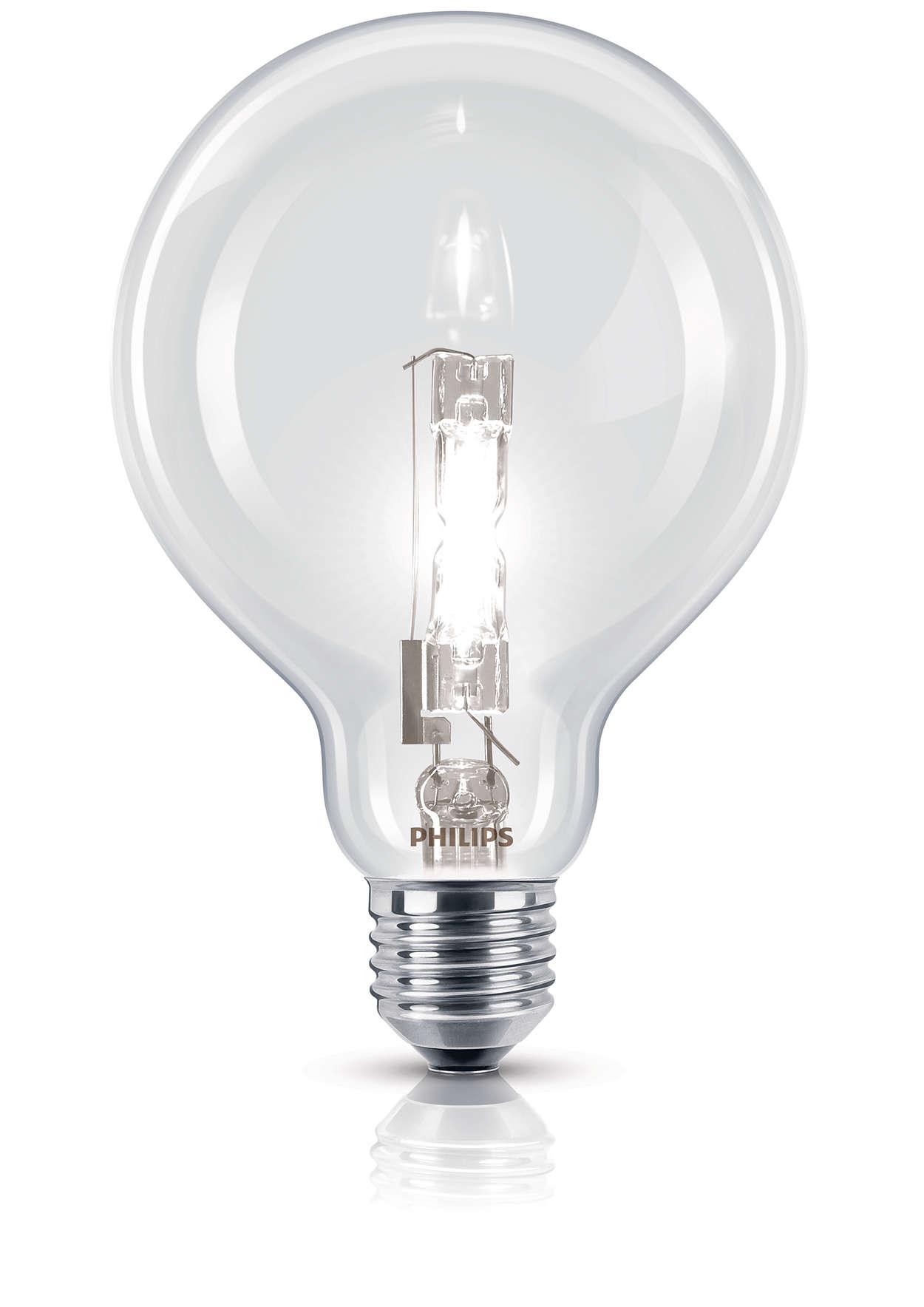 Luce alogena brillante in una forma tradizionale