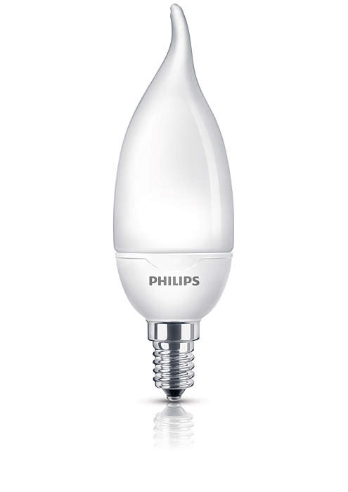 Мека, нежна светлина в енергоспестяваща лампа