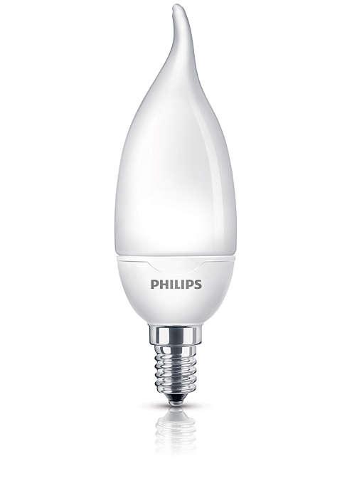 Pehmeää ja lempeää energiaa säästävää valoa