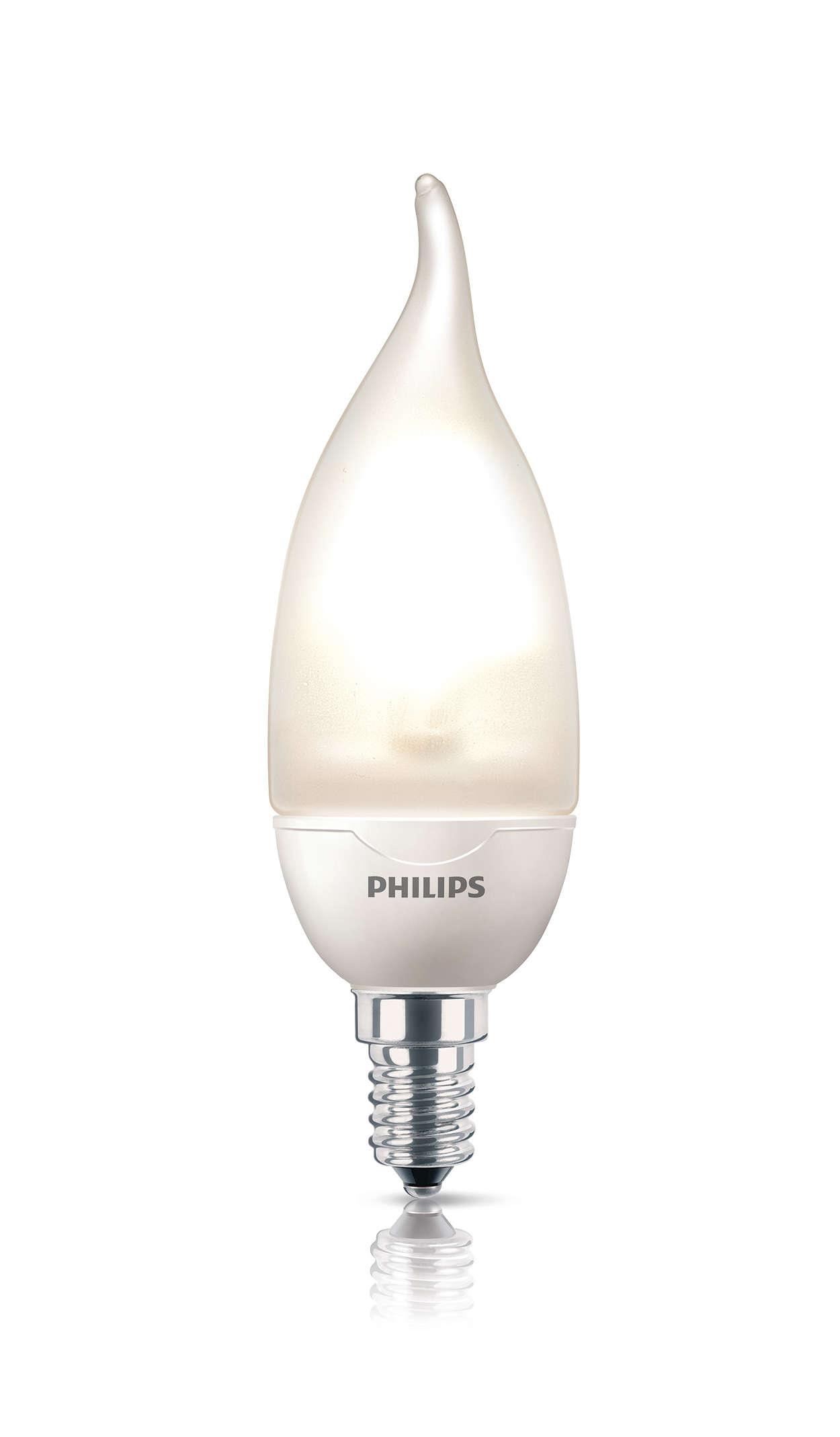 Dekorativ kronljuslampa med böjd spets