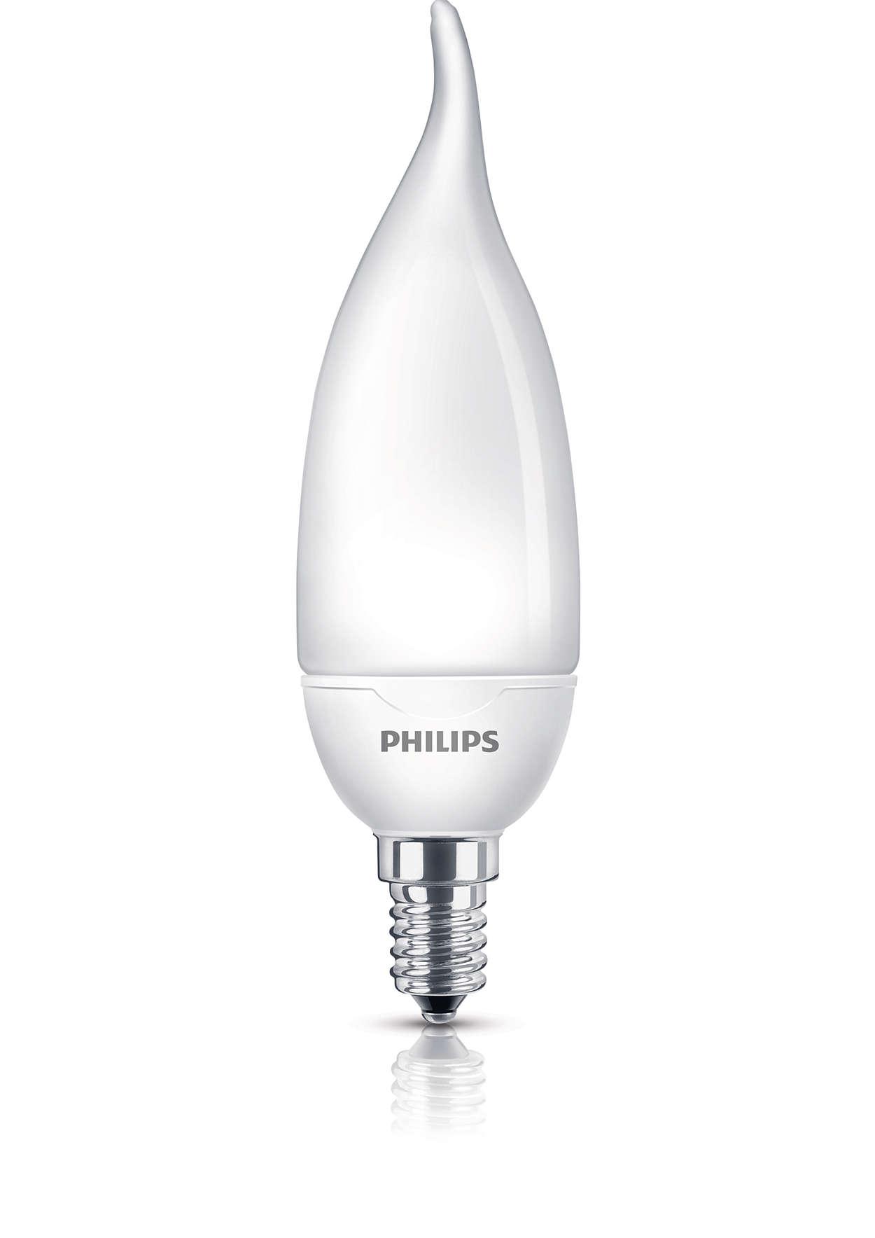 Švelni, maloni šviesa iš taupiosios lemputės