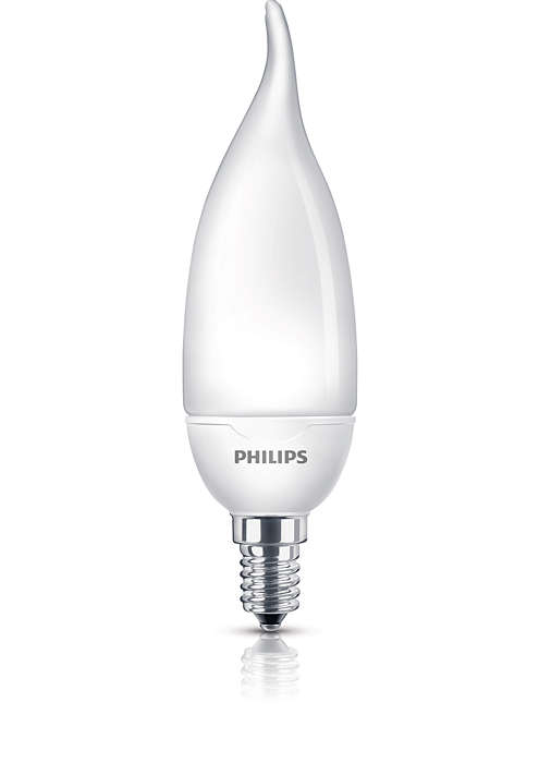 Een spaarlamp met zacht licht