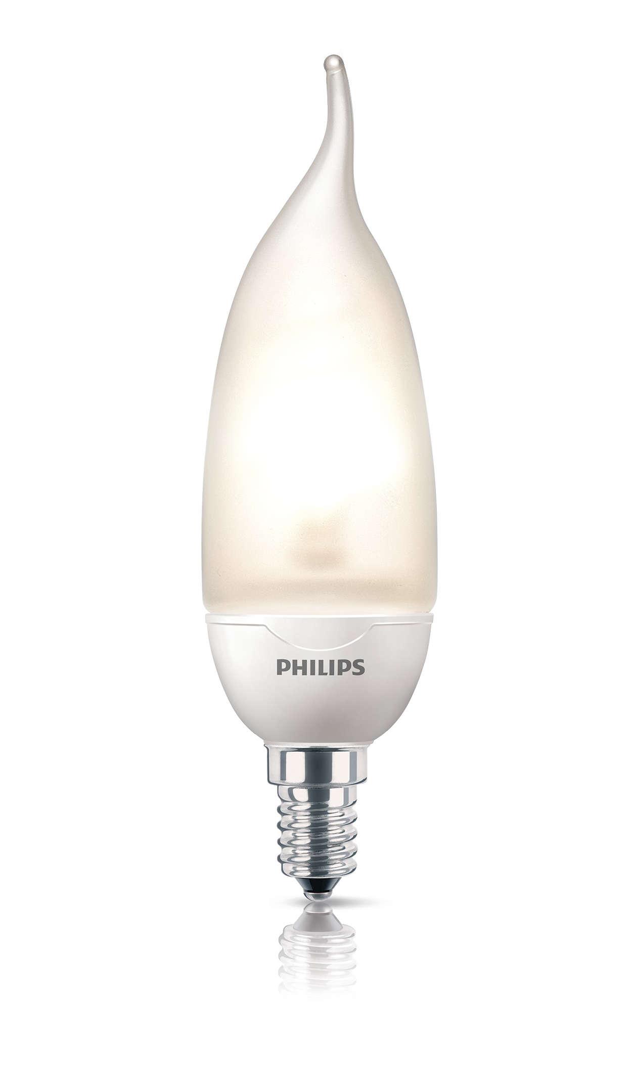 Декоративный дизайн: свечевидная лампа с изогнутым концом