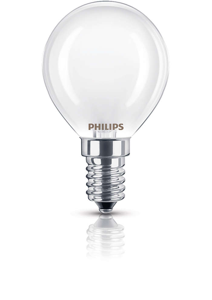 Frostad lampa för dämpad belysning