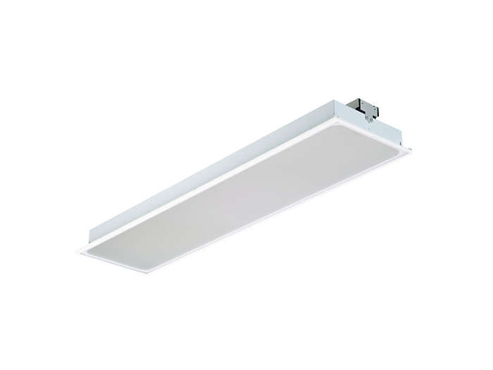 SmartBalance recessed RC482B LED luminaire, module size 312.5x1250 (visible profile ceiling version)