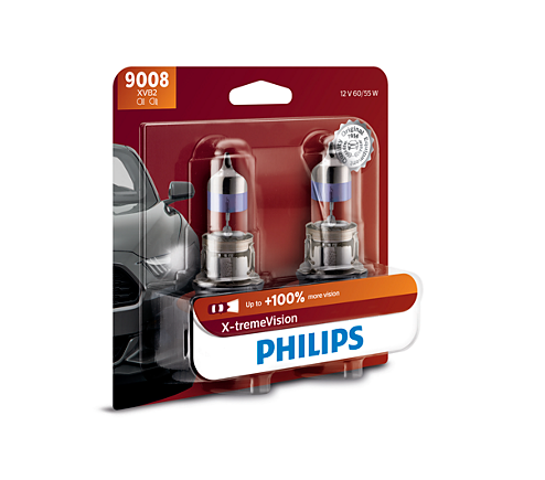 x tremevision upgrade headlight bulb 9008xvb2 philips. Black Bedroom Furniture Sets. Home Design Ideas