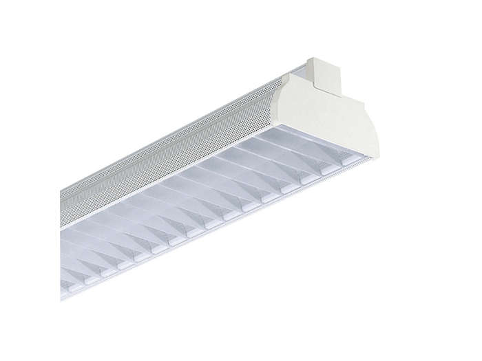 GMX450 TL-D multi-purpose reflector(s) and GGX450 white perforated lamellae louver (LP), to be ordered separatley