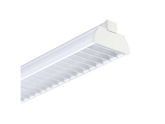 GMX450 TL-D multi-purpose reflector(s) and GGX450 standard-quality aluminum profiled cross-lamellae louver (M2), to be ordered separatley
