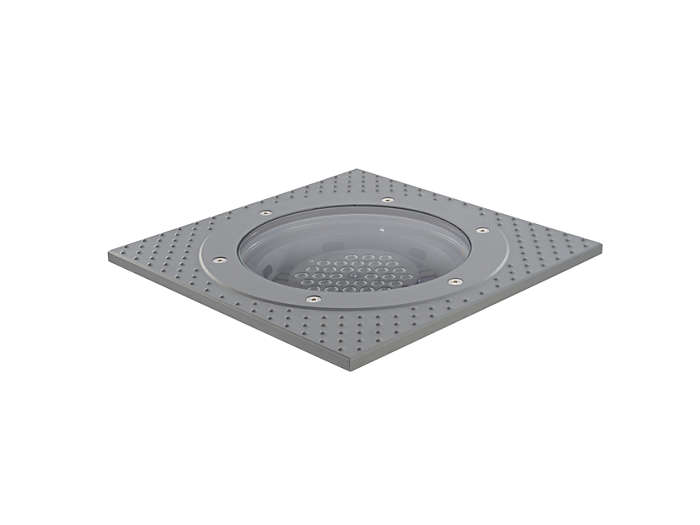DecoScene LED ground-recessed luminaire with anti-slip glass