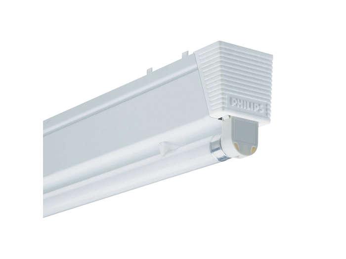 Pentura TMS122 batten for one TL5 fluorescent lamp