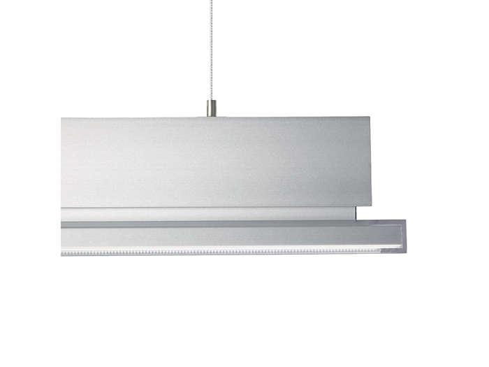 Natural anodised aluminium housing with translucent rim