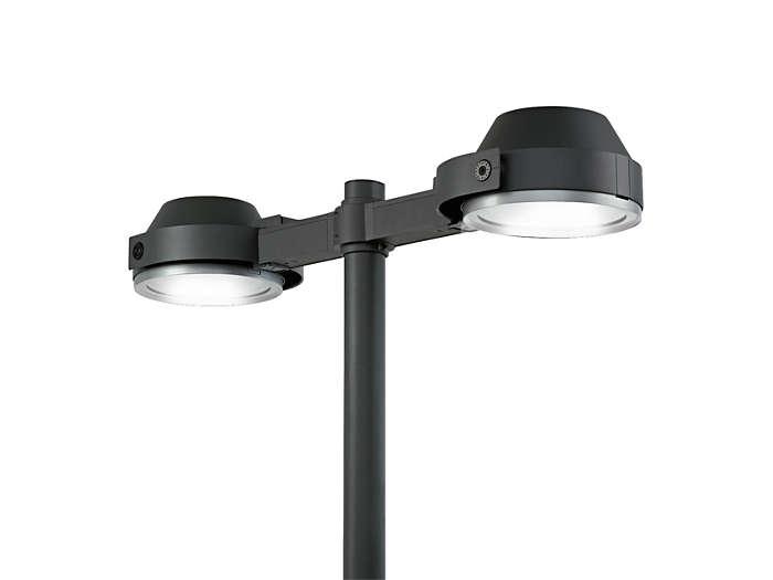 Two UrbanScene CGP705 urban-lighting luminaire on mast