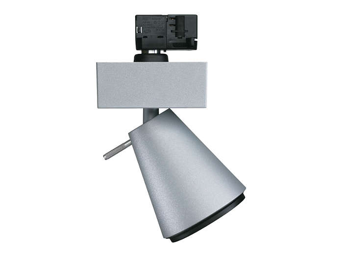 UnicOne Projector Mini MRS/LRS551 for track mounting, with discharge or halogen lamp and narrow or medium-beam optic