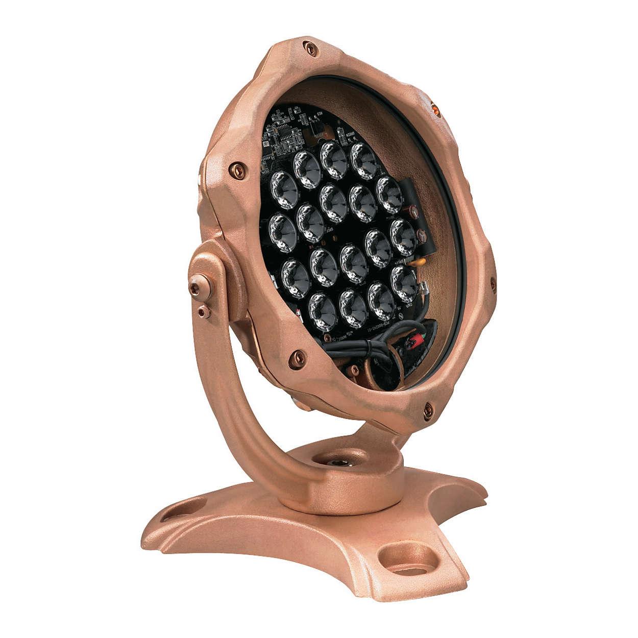 C-Splash 2 – 담수 및 해수 환경에서 사용할 수 있는 색상 변화 기능의 수중 LED 스포트라이트