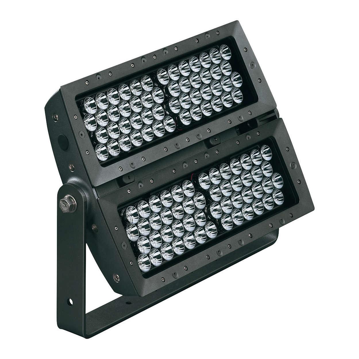 ColorReach Powercore – 특징적인 건물 전면과 구조물을 위한 차세대 LED 투광 조명