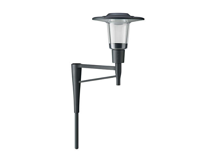 CityCharm Cordoba BDS490 luminaire with its dedicated single-arm bracket.