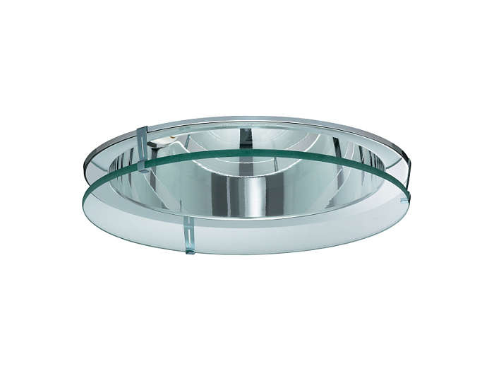 Fugato Full-Metal FBS290 fixed downlight with pendent glass, clear, clamp version (SG-CL-CLP)