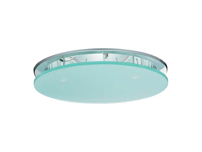 Fugato Full-Metal FBS290 fixed downlight with pendent glass, frosted (SG-FR)