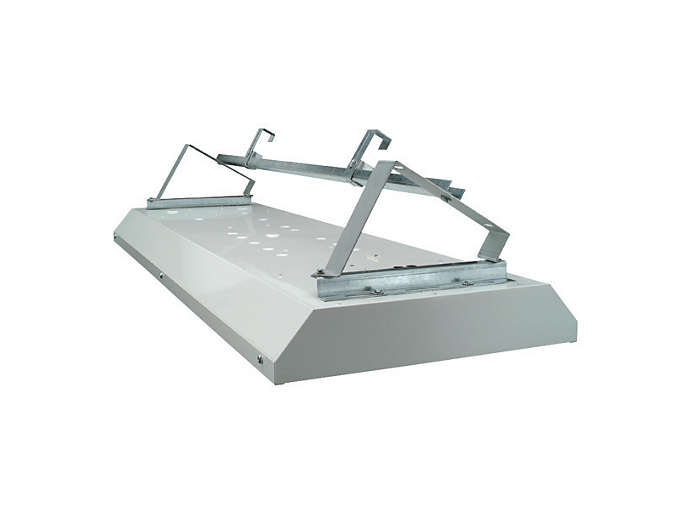 Angled mounting bracket used in conjunction with rail mounting