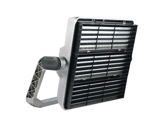 OptiVision LED BVP510 food-lighting luminaire with external spill-light control louver