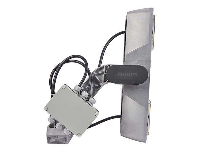 Side view of BVP510 floodlight, right