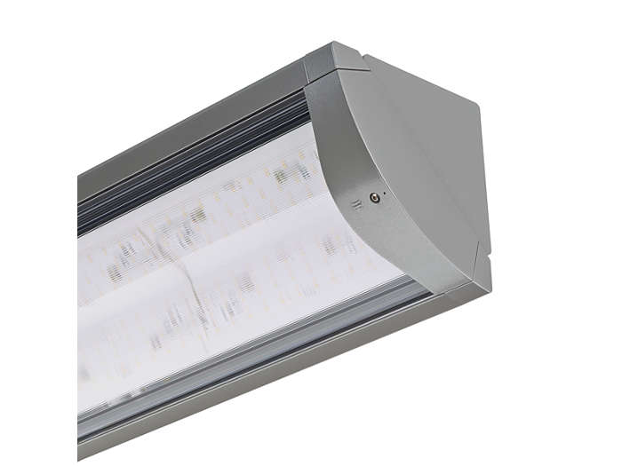Flow LED BGP490 tunnel and underpass luminaire with closed brackets