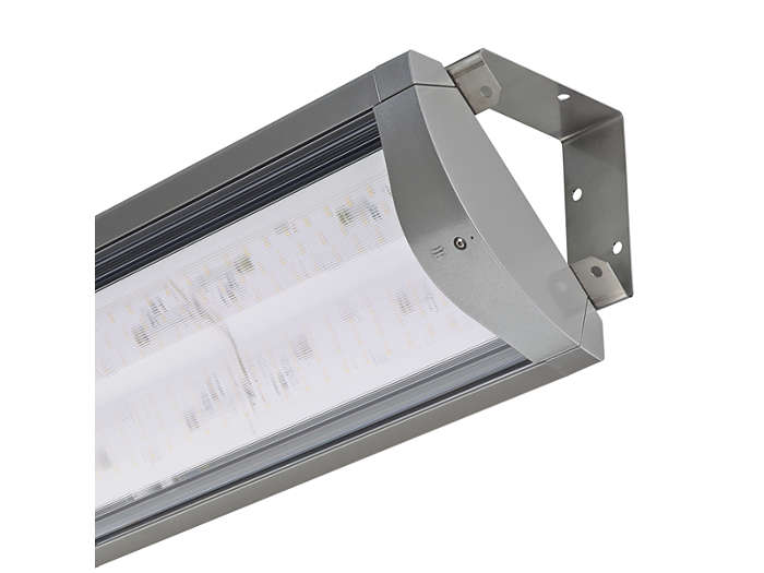 Flow LED BGP490 tunnel and underpass luminaire with open brackets