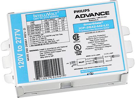 SMARTMATE ELE BALLAST (2) 18W CFL (4-PIN) 120-277V