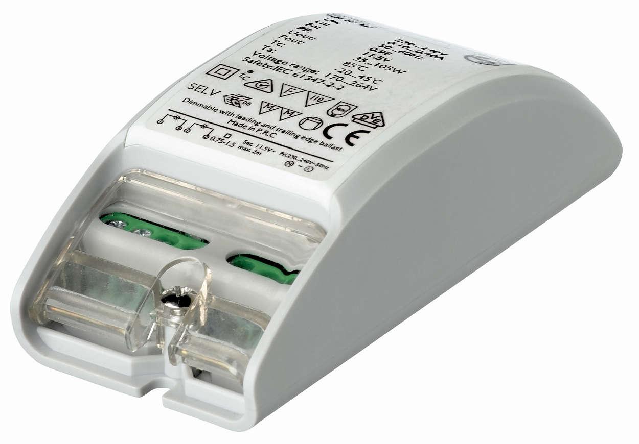 Primaline — очень компактный электронный трансформатор для галогеновых ламп 12 В