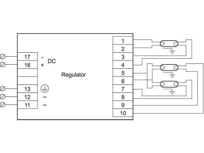 HF-R 3 lamps TL5/PL-L/TL-D